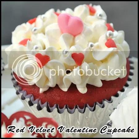 Red Velvet Valentine Cupcake