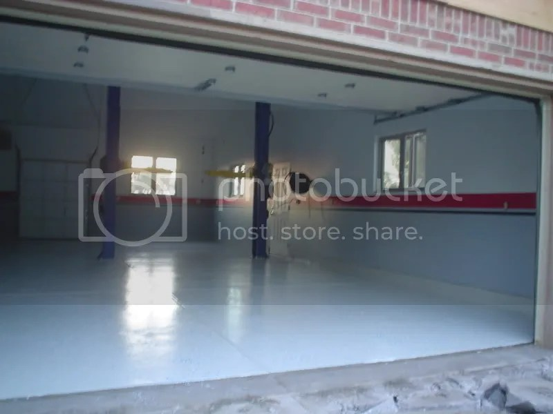 Garage with 14 foot ceiling for 14 foot tall garage door