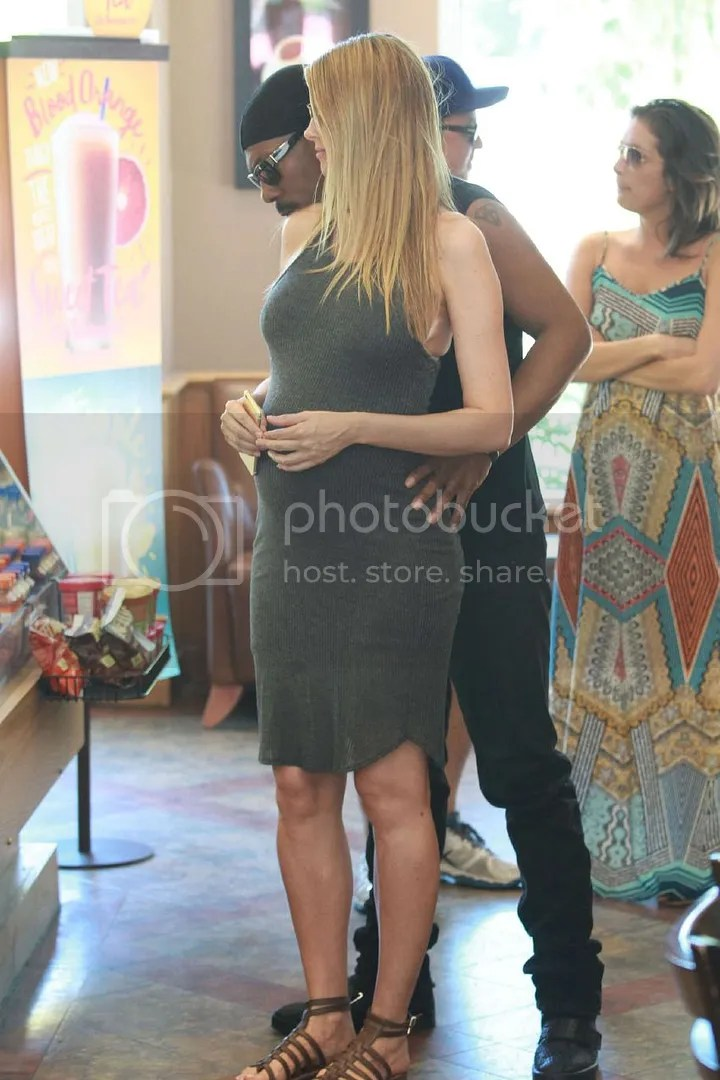 Paige Butcher Baby Bump Coffee Bean In Studio