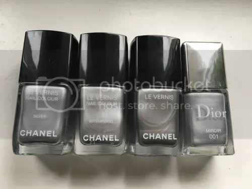 silver nail colours