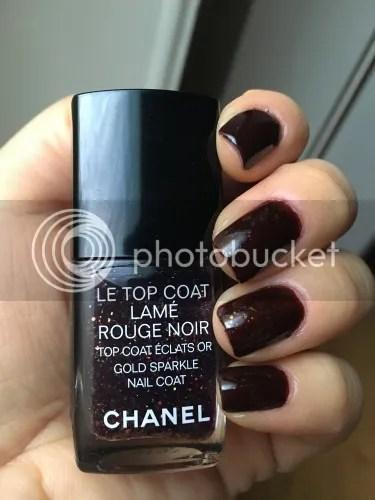Le Top Coat Lamé Rouge Noir