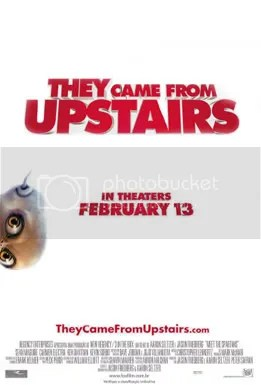 They Came From Upstairs Movie Poster - Be afraid, be sort of afraid!