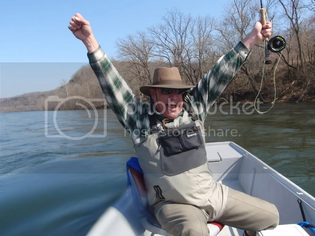 Whos a Happy Chappy _ Dick Reusenberg after landing his biggest trout in 14 years