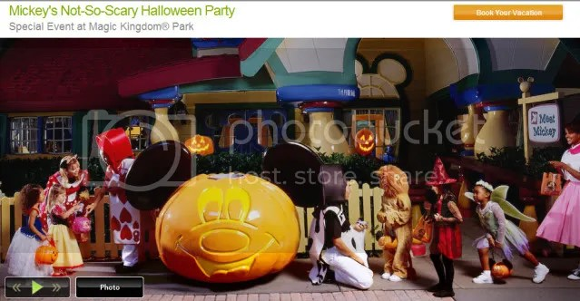 Mickey's Not-So-Scary-Halloween website
