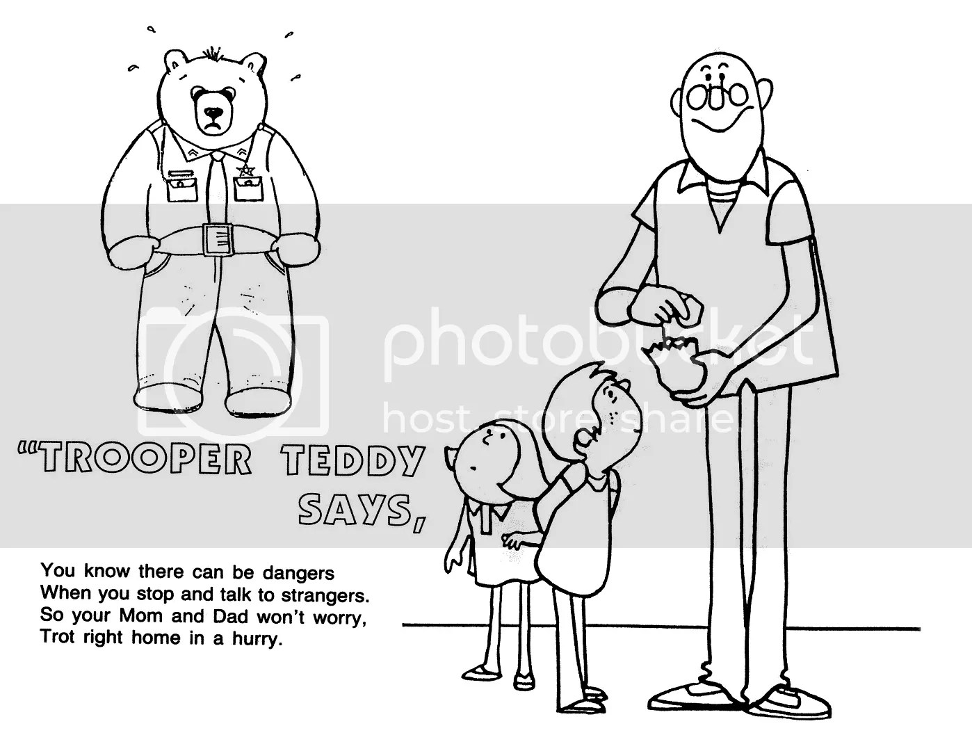 Printable Coloring Pages Stranger Safety Coloring Sheets