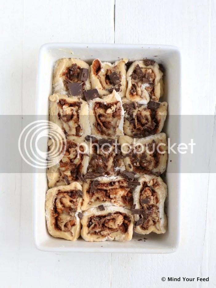chocoladebroodjes met pecannoten