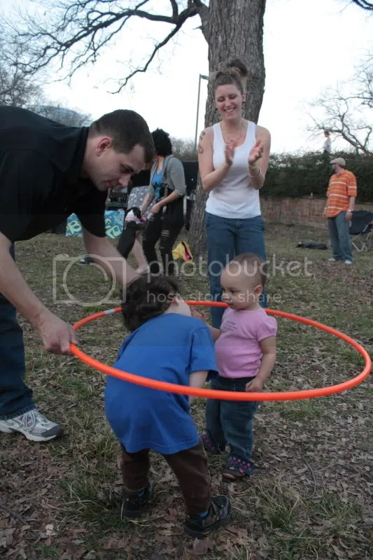 Friendship is an orange hula hoop