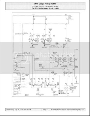 Wiring Schematic for 06 mega 3500 DRW  Dodge Cummins