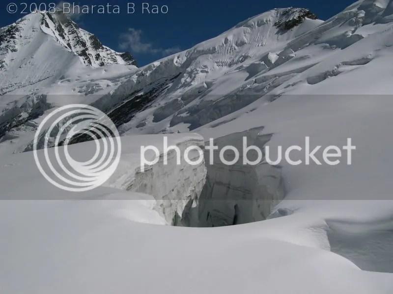 A crevasse near Auden's Col