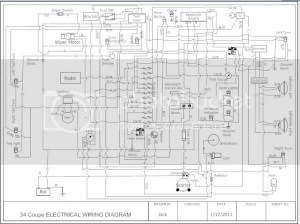 Drew up a simple hotrod electrical diagram | The HAMB
