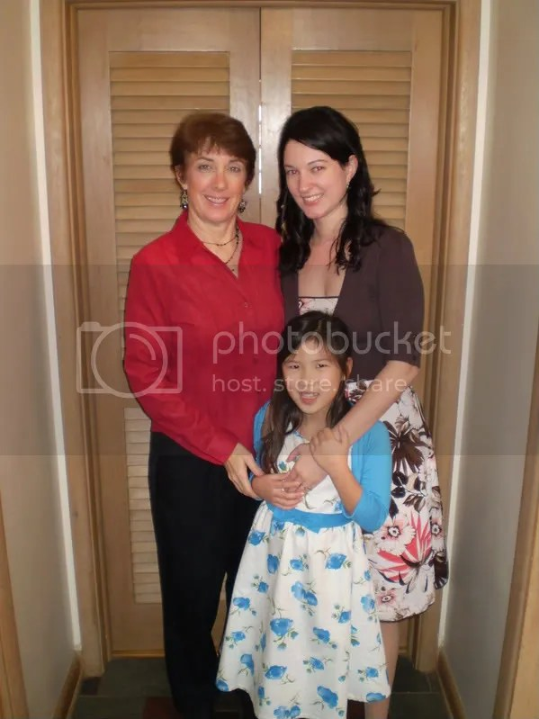 Mom, me and Mikayla on Easter