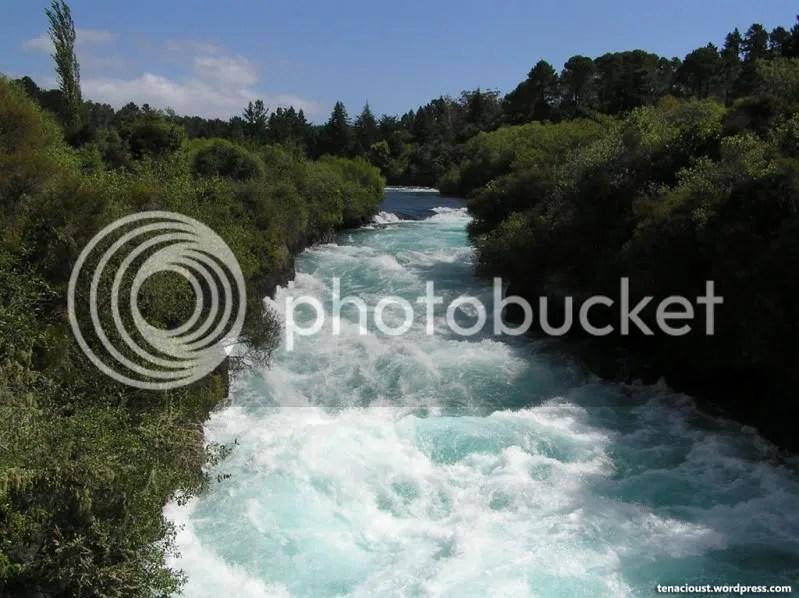 Huka Falls upstream from tourist bridge
