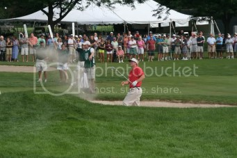 Russell Henley Comes Out Of Sand On 72nd Hole In 2010