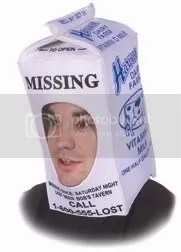 Missing Child Milk Carton