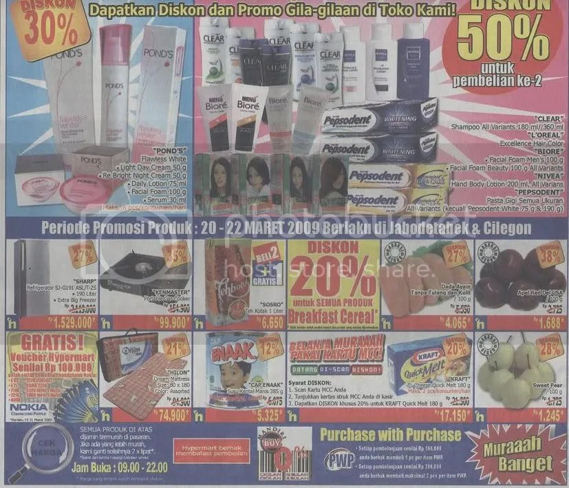 Promo Kompas 20 Maret 09 Hypermart