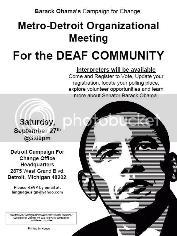 Deaf Volunteers for Obama