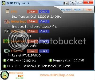 3DP Chip: Tự động tìm kiếm driver