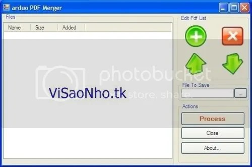 Cắt và nối các file PDF với ArduoPdfMerger