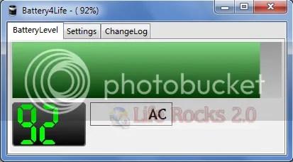 Battery4Life: Công cụ quản lý pin laptop
