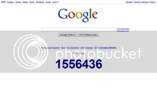 Đồng hồ đếm ngược đến năm mới của Google