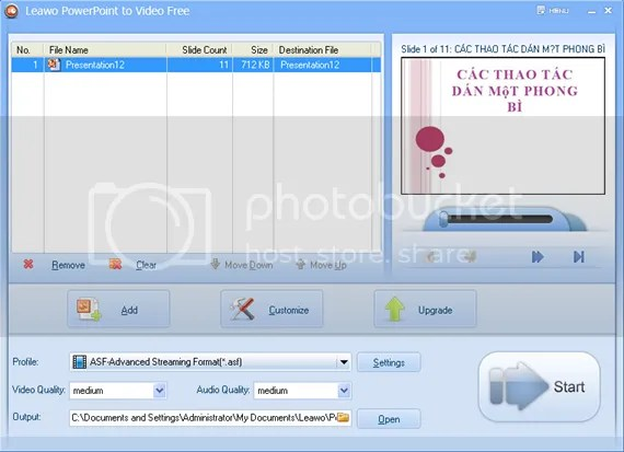 Chuyển đổi file PowerPoint sang định dạng Video với Leawo