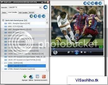 SopCast: Phần mềm xem truyền hình trực tuyến miễn phí