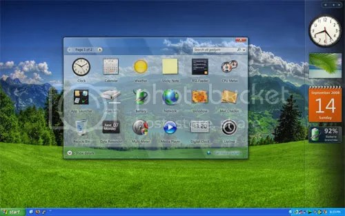 Vista Rainbar: Vista Sidebar tốt nhất cho Windows XP