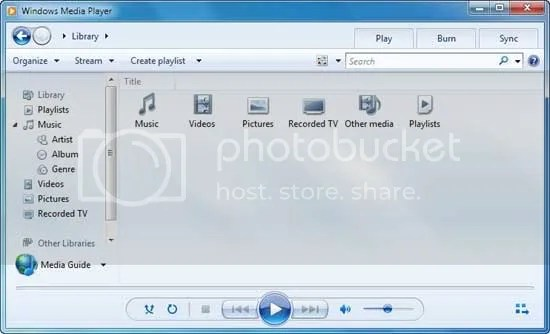 Thay đổi hình nền Library trong Windows Media Player 12