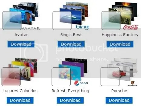 Download Windows 7 New Branded Themes: Coke, Pepsi, Porsche, Zune