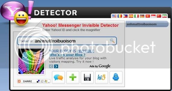 Kiểm tra trạng thái và lấy avatar của nick Yahoo! Messenger