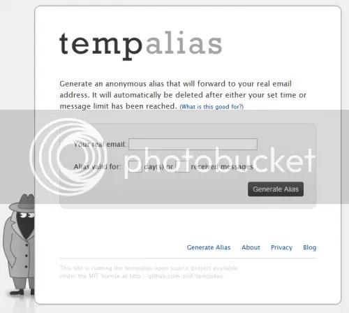 Tempalias: Tạo địa chỉ e-mail tạm thời
