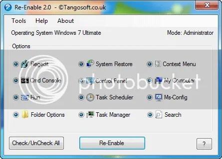 Phục hồi các tính năng bị mất của Windows