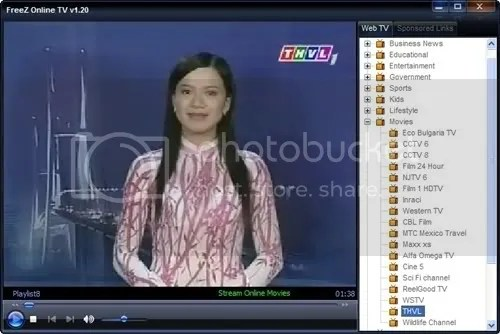 Xem TV trên máy vi tính với FreeZ Online TV