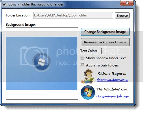 Windows 7 Folder Background Changer: Thay đổi hình nền folder trong Windows 7