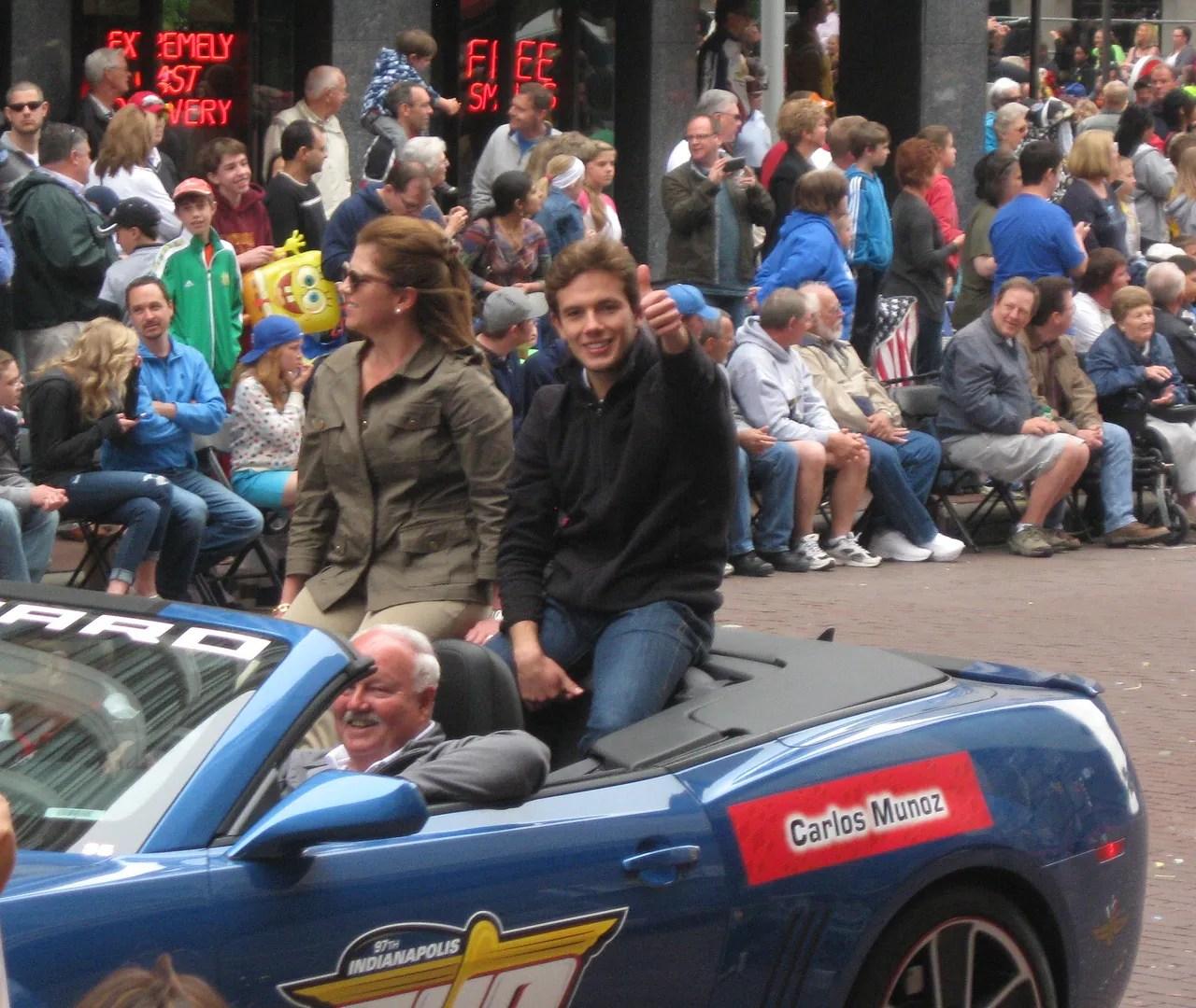 Carlos Munoz, Indianapolis, 500, 500 Festival Parade, Indianapolis, 2013