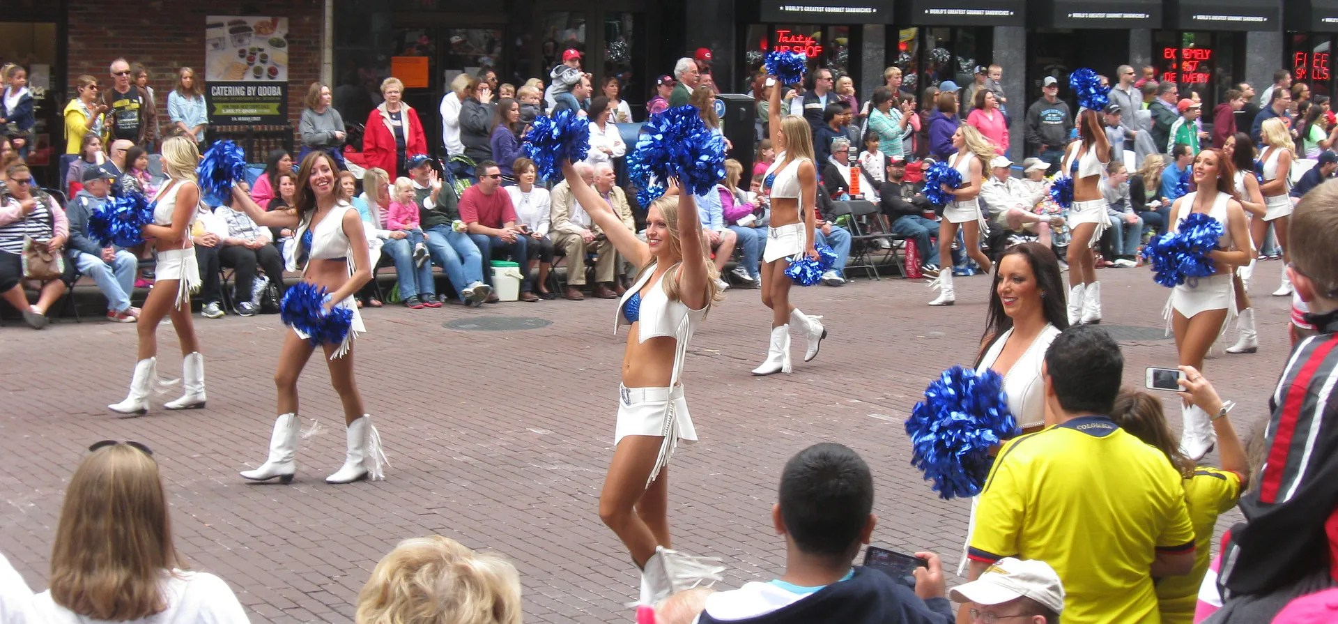 Colts Cheerleaders, 500 Festival Parade 2013, Indianapolis
