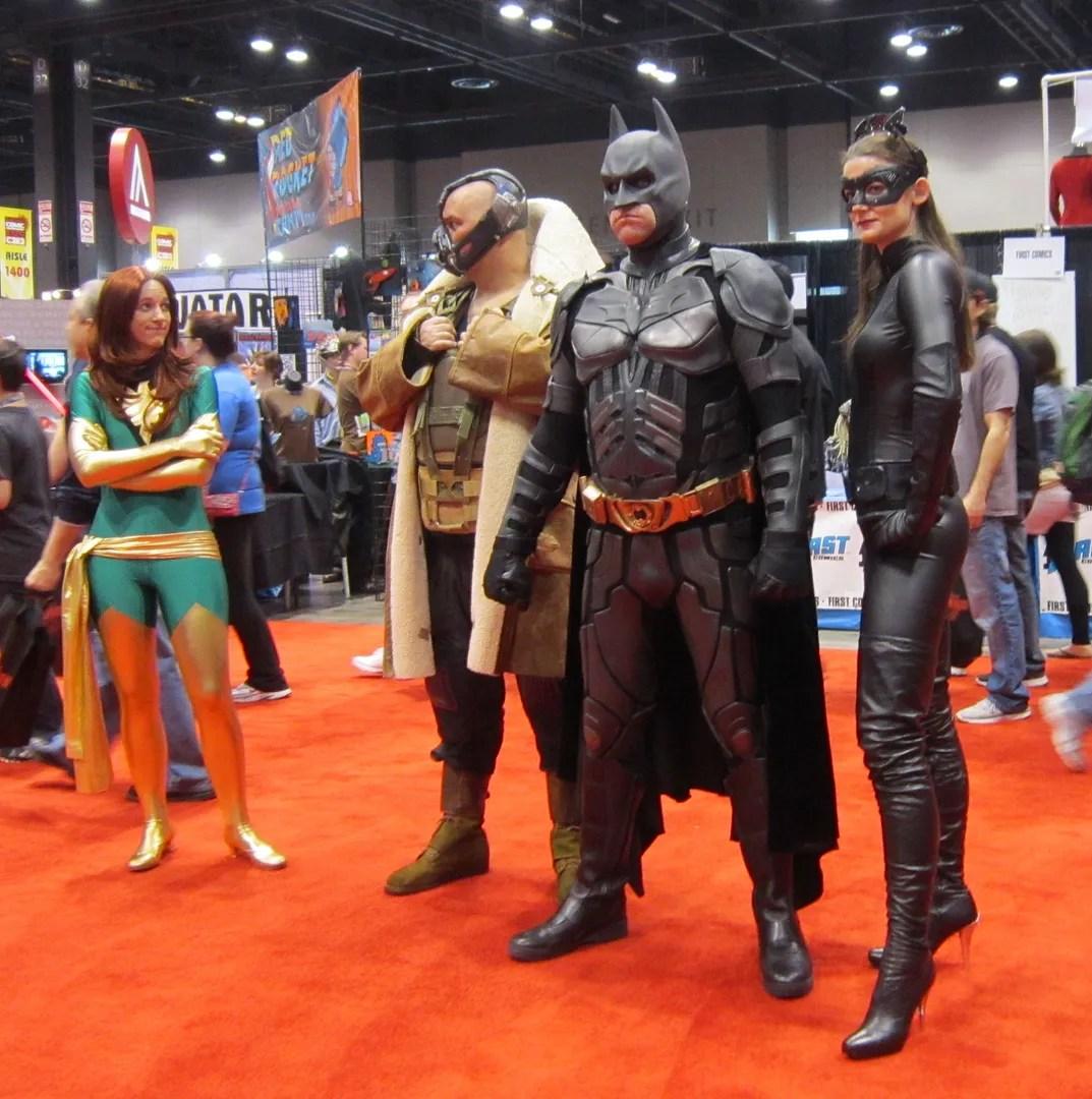 Phoenix, Bane, Batman, Catwoman