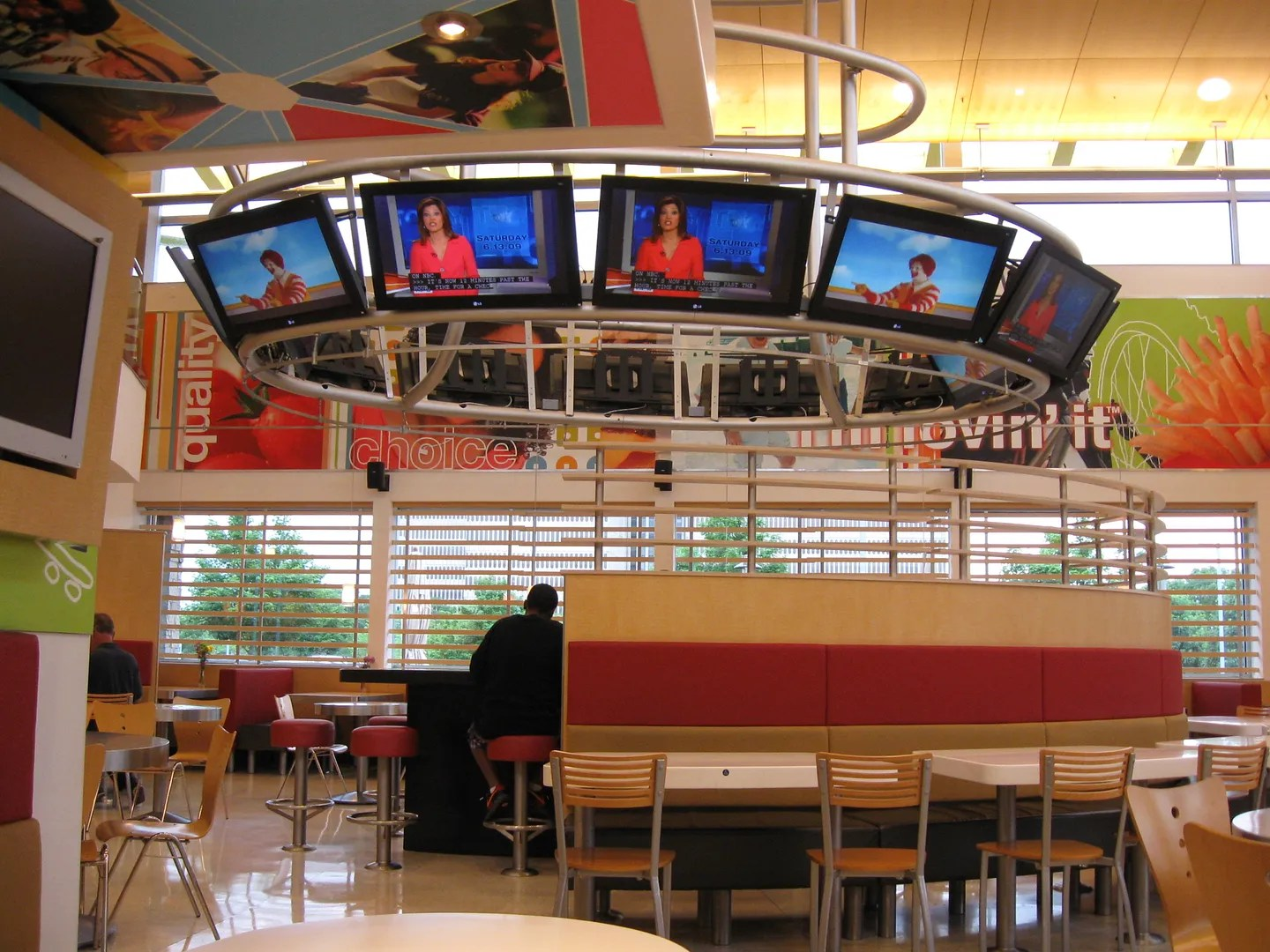 McDonald's lobby, Illinois