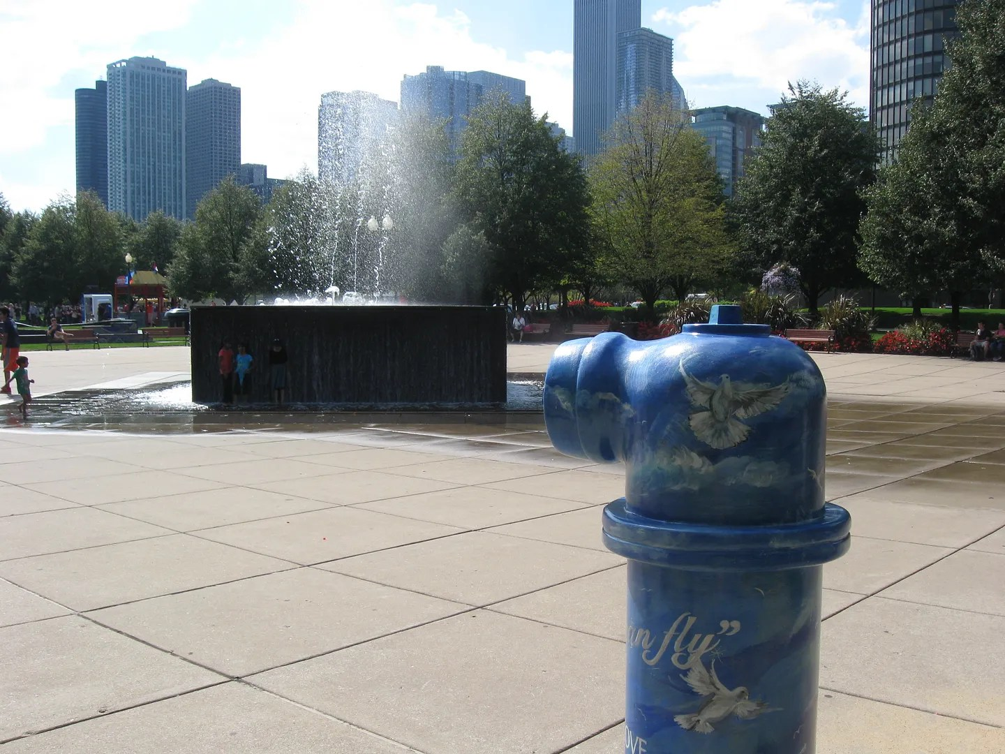 fountain, hydrant, Chicago