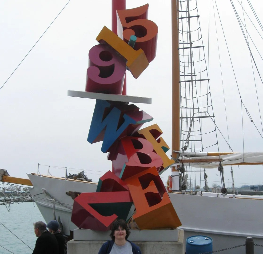 numbers and letters, Navy Pier, Chicago