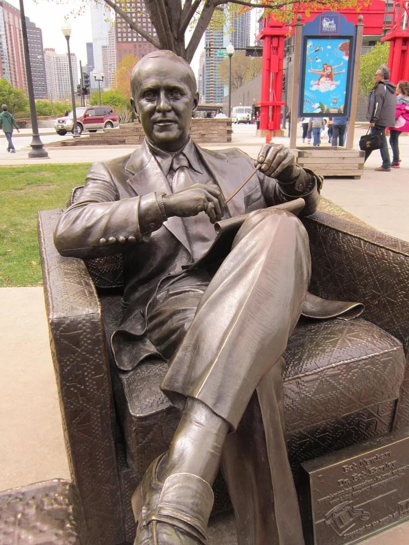 Bob Newhart statue, The Bob Newhart Show, Navy Pier, Chicago