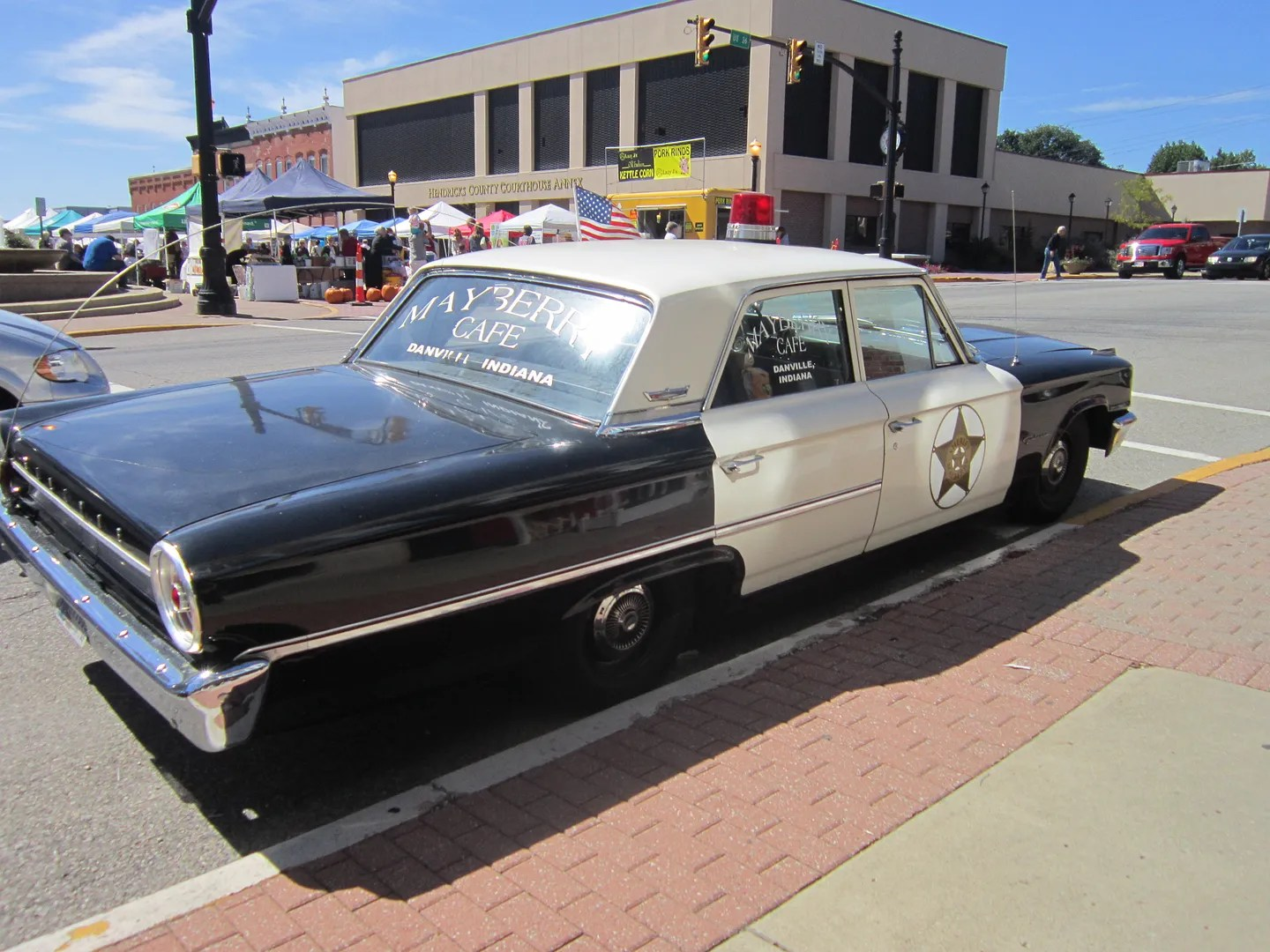 Sheriffy Andy's car, Mayberry Cafe, Danville, Indiana
