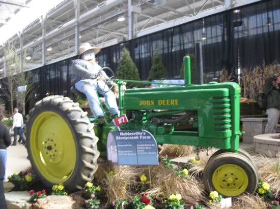 John Deere tractor, Indianapolis Flower & Patio Show