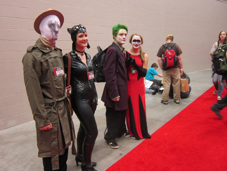 Rorschach, Catwoman, Joker, Harley Quinn, GenCon 2013