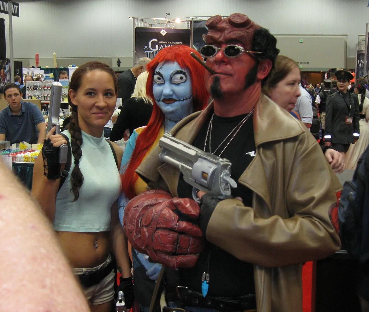 Lara Croft, Sally, Hellboy, GenCon 2013
