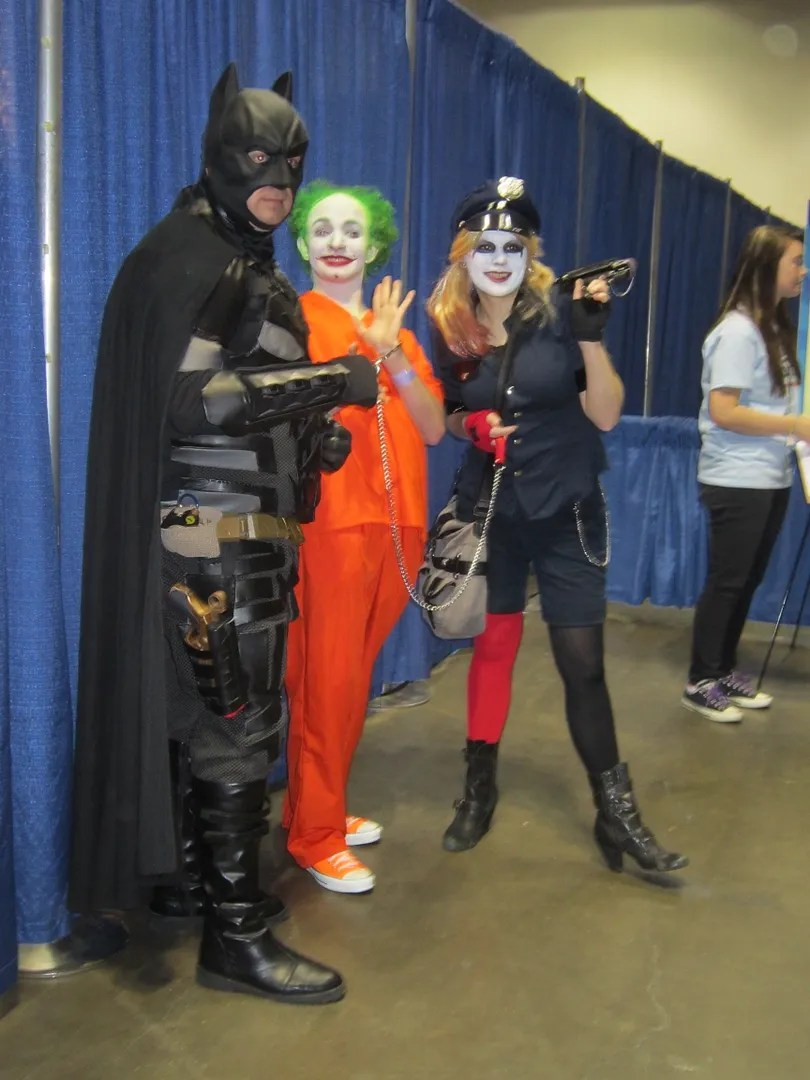 Batman, Joker, Harley Quinn, costumes, Indiana Comic Con 2014, Indianapolis
