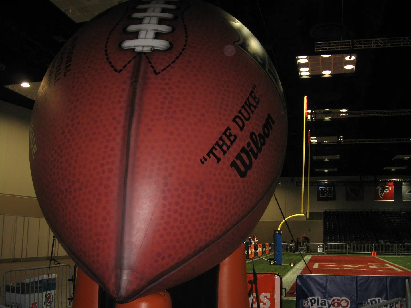 giant inflatable football, Super Bowl XLVI
