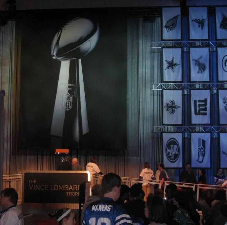 Vince Lombardi trophy line, Super Bowl XLVI, NFL Experience 2012