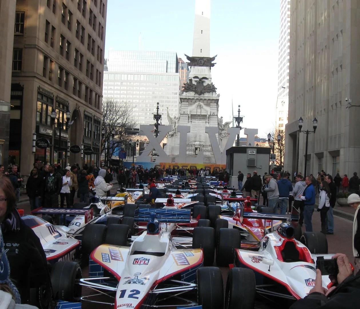 Meridian Street Indy cars, Super Bowl XLVI