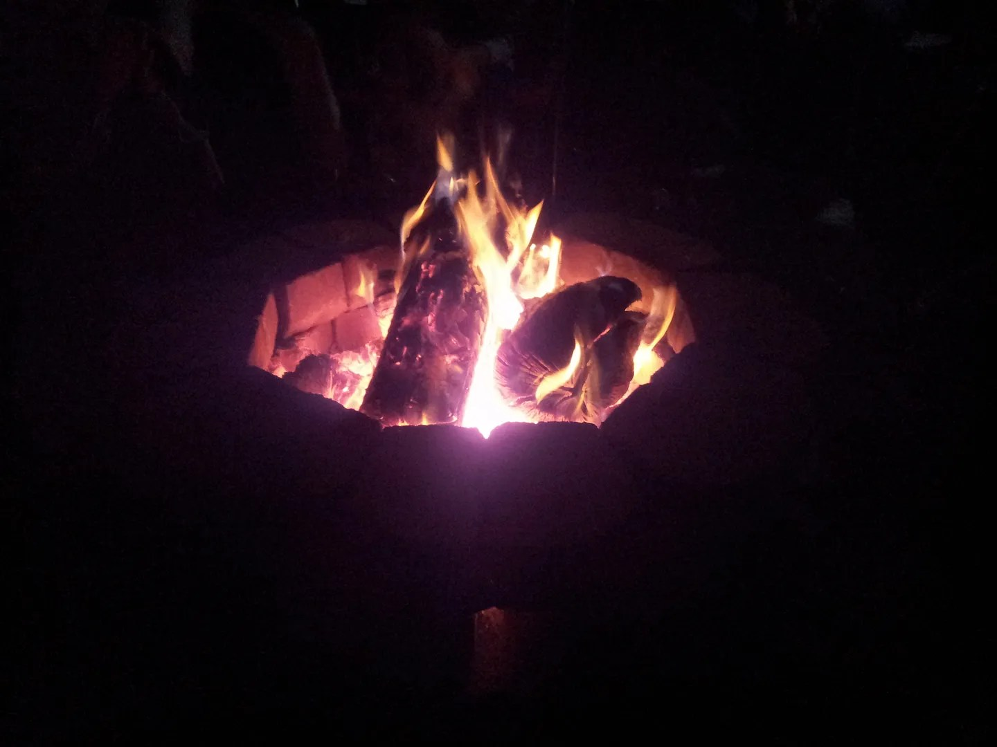 October fire pit